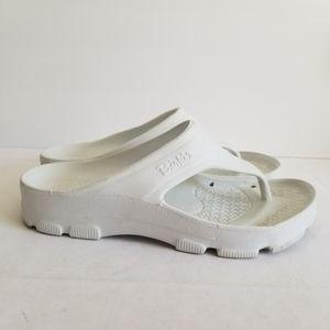 Birkenstock Birkis White Thong Flip Flops Sandals